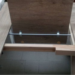 Yucca extendable table, with structure
