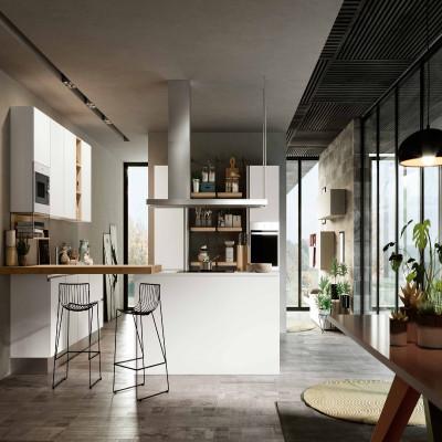Cuisine modulaire Caprera, avec ouverture de porte rainurée
