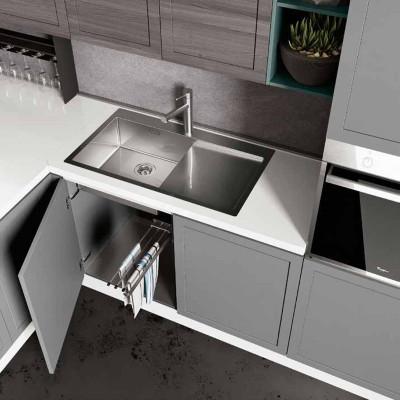 Amalfi modular kitchen, peninsula bar