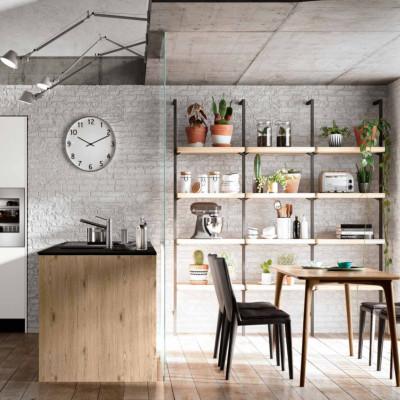 Panarea modular kitchen, with groove