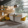 Positano modular kitchen, boiserie