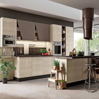 Capri modular kitchen, with island and