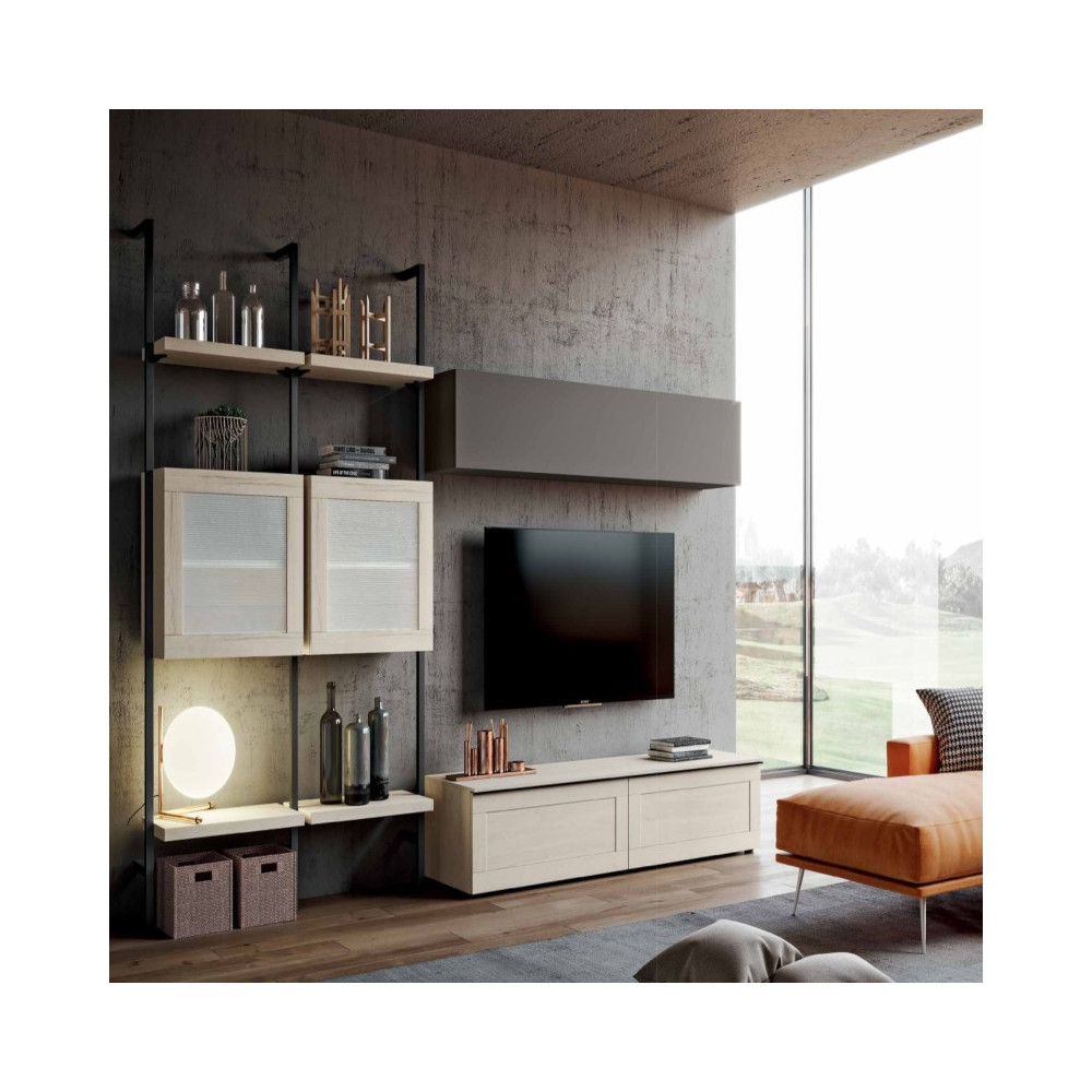 Saturno 303 living room, ash gray color,