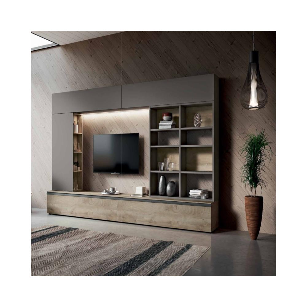 Saturno 304 living room, ash gray color,