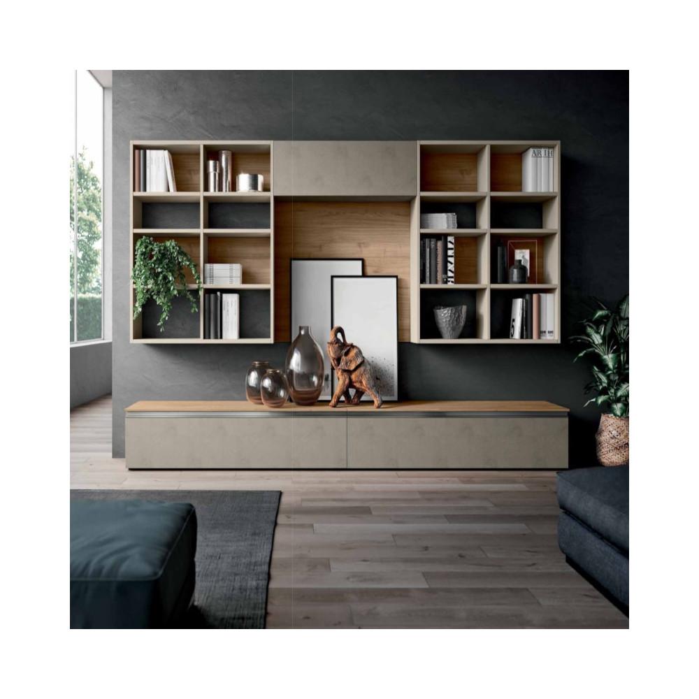 Saturno 301 living room, clay color,