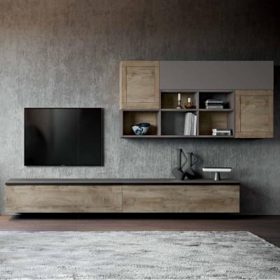 Living room Saturno 309, color Ash gray, Oak QSM309