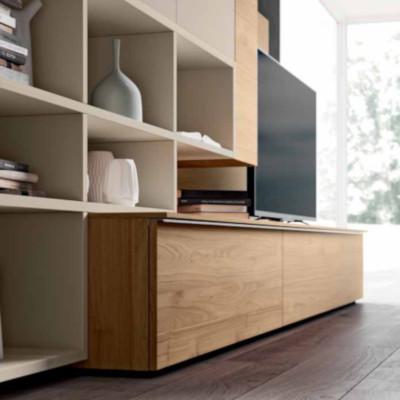 Saturno 310 living room, matt barley color, blond walnut QSM310
