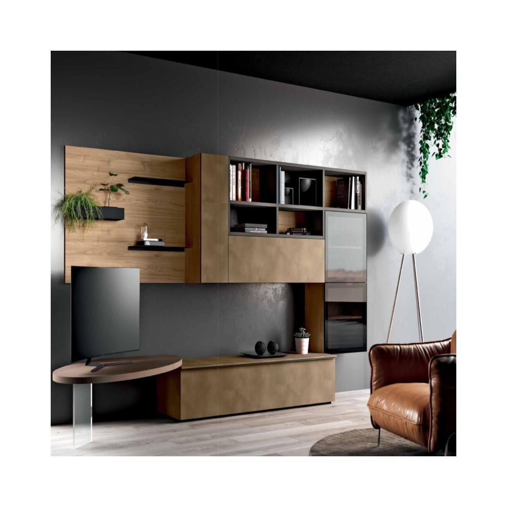 Living room Saturno 312, blond walnut,