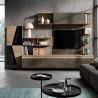 Saturno 316 living room, burnished oxide