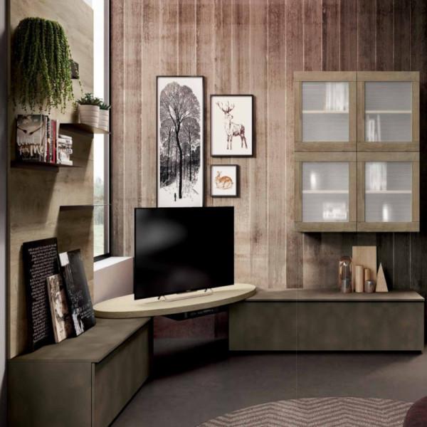 Living room Saturno 320, Burnished oxide, QSM320 oak