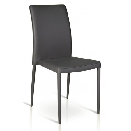 Elsa padded chair, completely covered in eco-leather, metal frame, chair x 4 pcs.