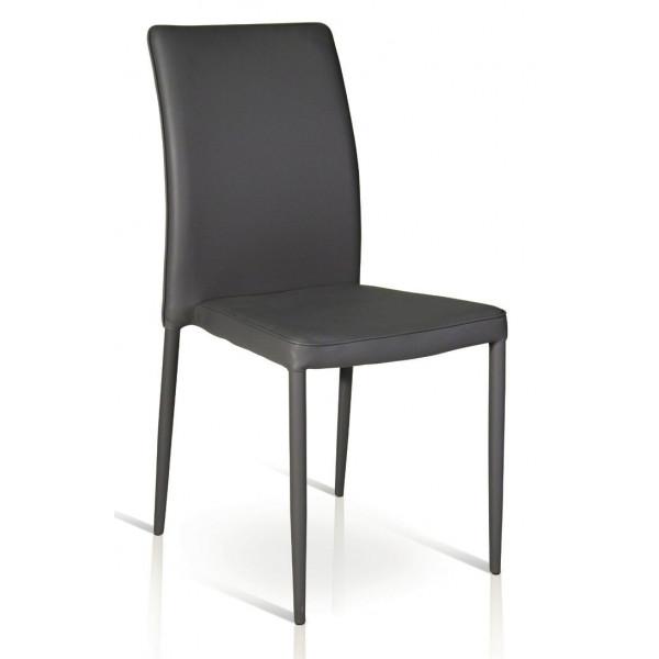 Sedia Elsa imbottita, completamente rivestita in ecopelle, struttura in metallo, sedia x 4 pz.