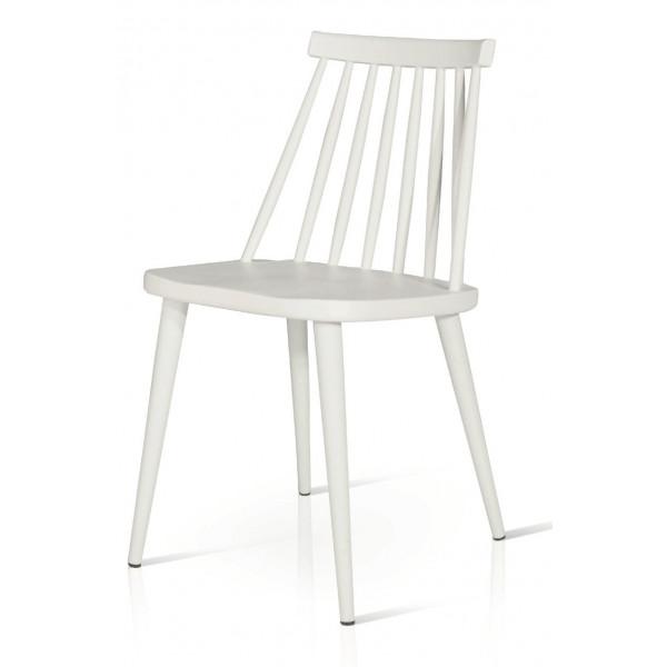 Sedia Diva in legno di faggio massello laccato, colore bianco e nero