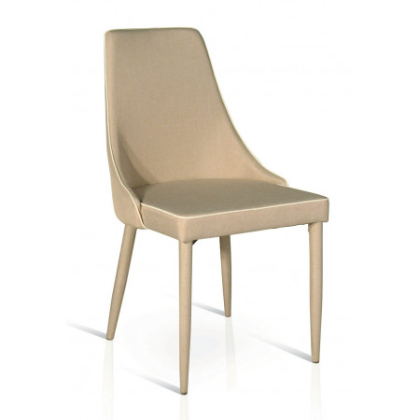 Chaise Ambra en tissu rembourré, structure en métal tubulaire 47 x 57 x 88 cm, chaise x 4 pcs.