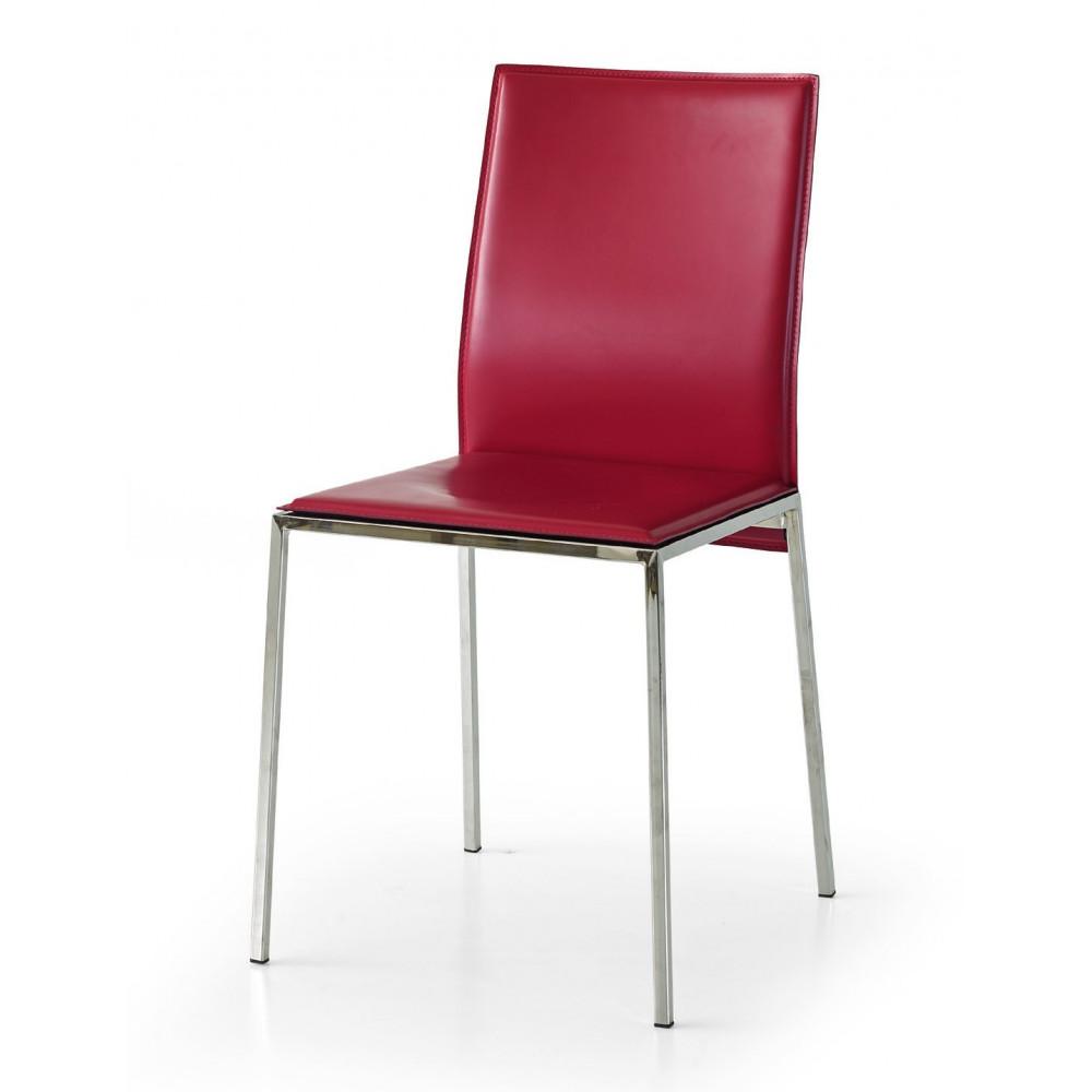 Chaise Berry en éco-cuir, structure en