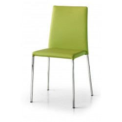 Venus chair in eco-leather, structure and legs in chromed metal, chair x 2 pcs