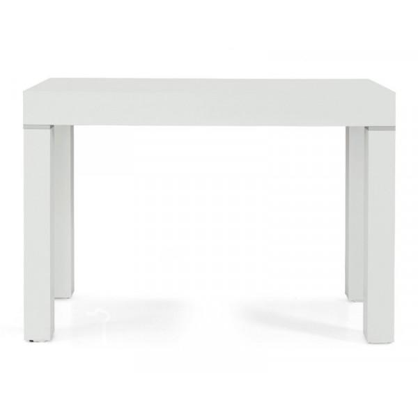 Tavolo consolle Panarea 3 in laminato bianco frassinato, allungabile fino a 300 cm