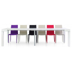 Panarea 3 console table in white ash laminate, extendable up to 300 cm