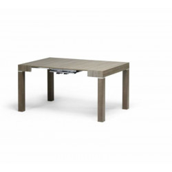 Panarea 2 console table in dove gray ash laminate, extendable up to 300 cm