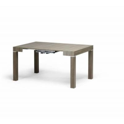 Table console Panarea 2 en stratifié frêne gris tourterelle, extensible jusqu'à 300 cm