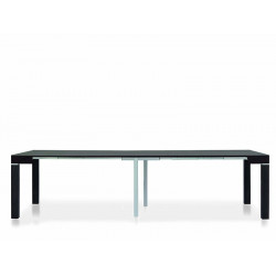 Panarea 1 console table in dark wenge laminate, extendable up to 300 cm