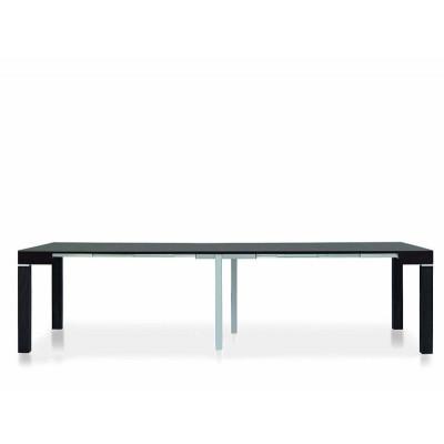 Table console Panarea 1 en stratifié wengé foncé, extensible jusqu'à 300 cm