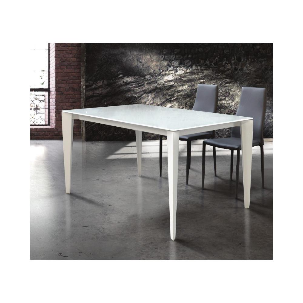 Azalea extendable table, tempered glass