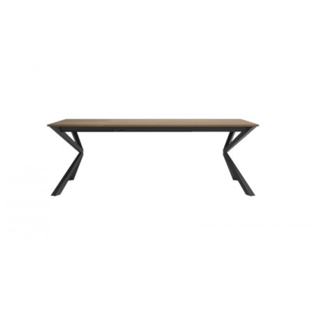 Table extensible Airone 160, design made in Italy, fermée 160 cm, ouverte 218 cm, 6-8 places