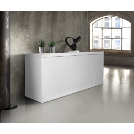 Venere sideboard in white ash laminate with three doors