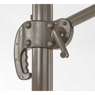 Dallas 3x3 arm umbrella, dove gray