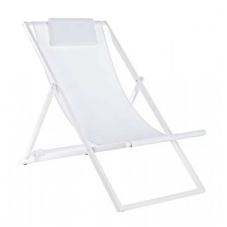 Taylor deck chair, white structure, 2x1 textilene cover, pack of 4 pcs.