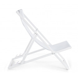 Chaise longue Taylor, structure blanche,