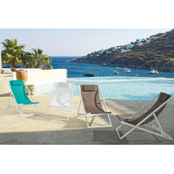 Taylor deck chair, white structure, 2x1