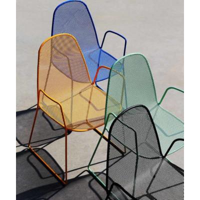 Sedia da esterno Camilla 2 struttura, seduta e schienale in acciaio pre-zincato, colore antracite