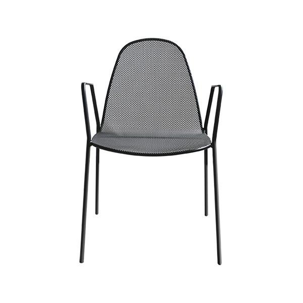 Chaise d'extérieur Mirabella 2, couleur anthracite, empilable