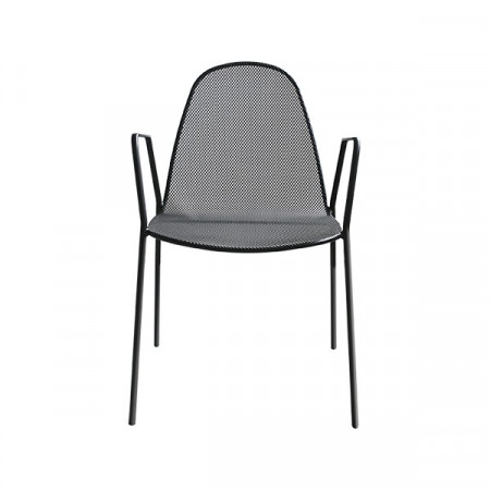 Mirabella 2 outdoor chair, anthracite color, stackable