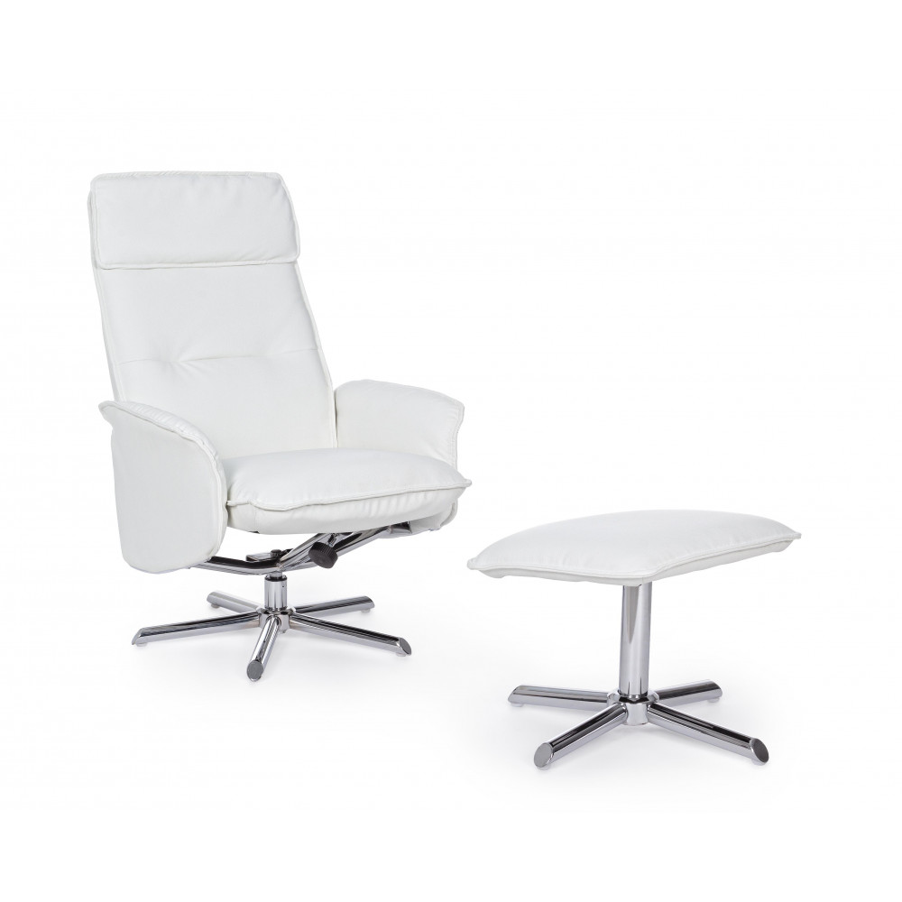 Bizzotto Recliner Armchair with White