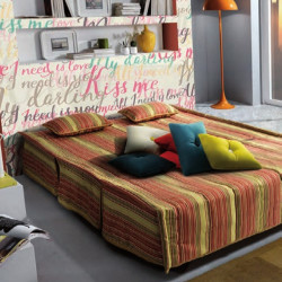Hopplà Cucciolo sofa bed with electro-welded base