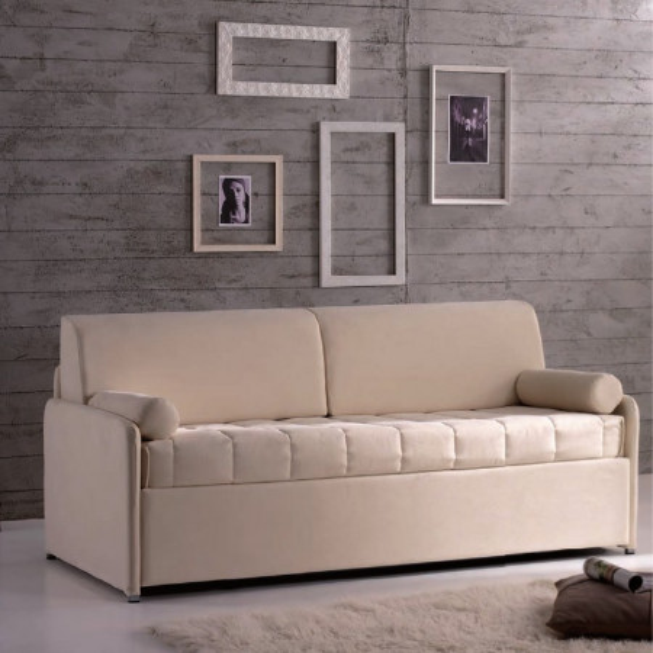 Hopplà Clochard sofa bed with iron structure, slatted base