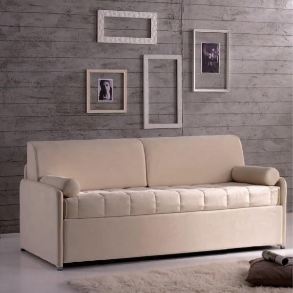 Hopplà divano letto Clochard con struttura in ferro, rete a doghe