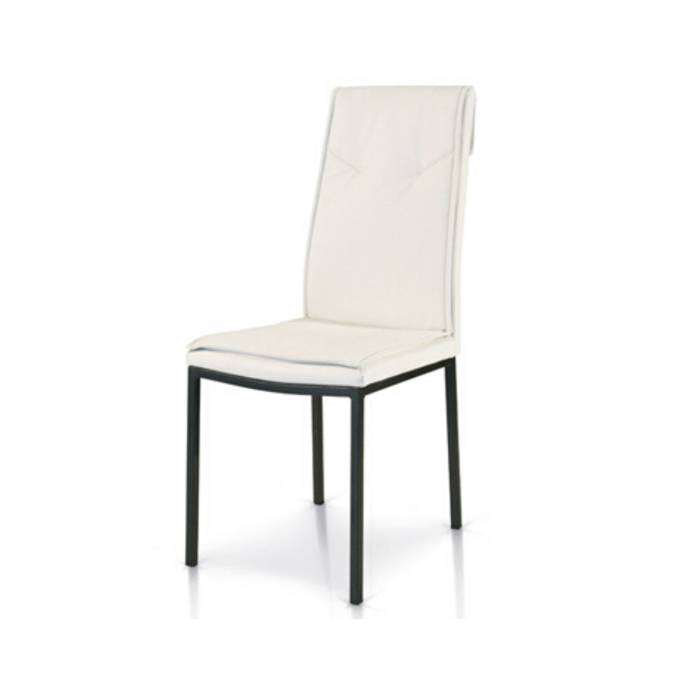 Cora chair upholstered in eco-leather,
