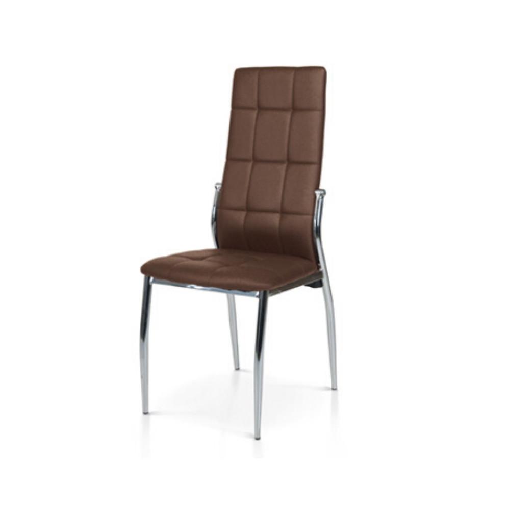 Chaise Pisa rembourrée en éco-cuir, avec
