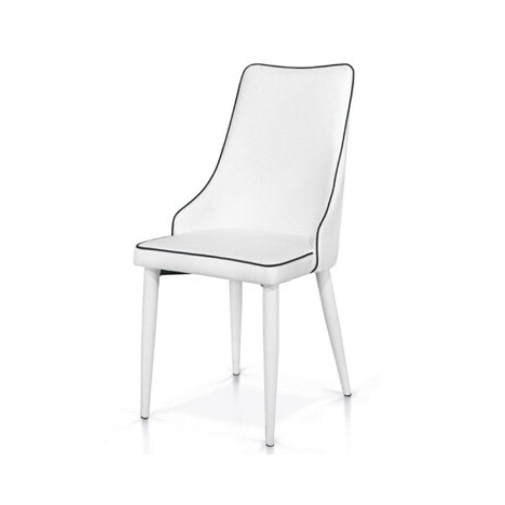 Ligia chair with eco-leather seat and