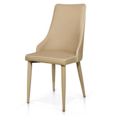 Sedia Ligia seduta e schienale in ecopelle, struttura metallo, imballo 4 pz.