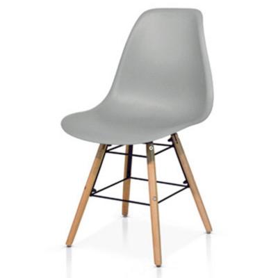 Chaise Livorno avec assise en PP et pieds en bois de hêtre, chaise x 4 pcs