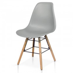 Livorno chair with seat in PP and legs in beech wood, chair x 4 pcs