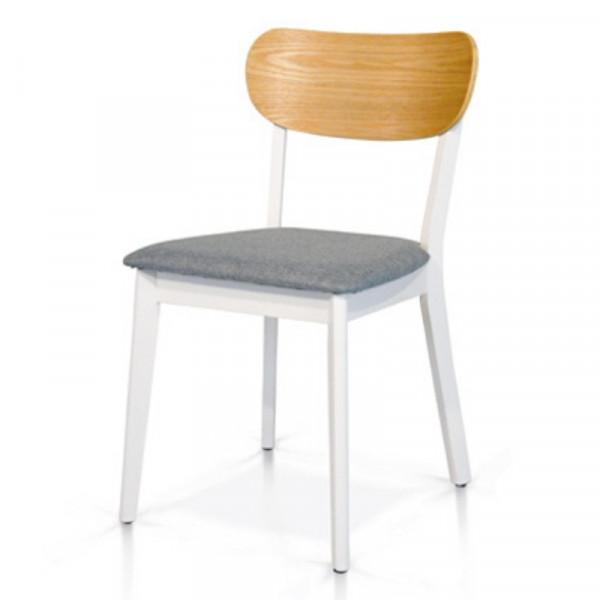 Sedia Stoccolma in legno di faggio e seduta in tessuto, bicolore, sedia x 2 pz