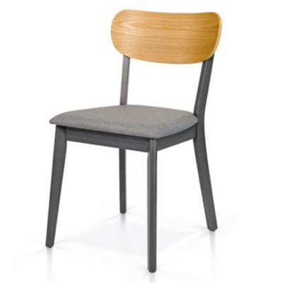Chaise Stockholm en bois de hêtre et assise en tissu, bicolore, chaise x 2 pcs