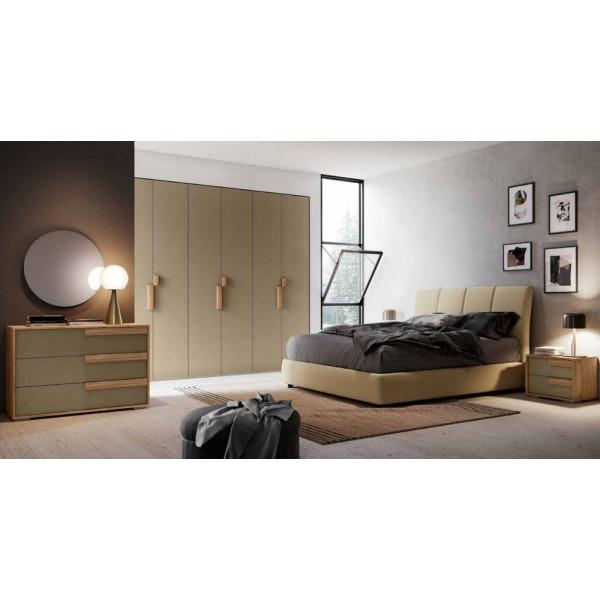 Camera da letto Iris, completa di armadio 6 ante, letto con contenitore