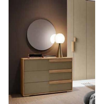 Camera da letto Iris, composizione fissa, armadio 6 ante, letto con contenitore